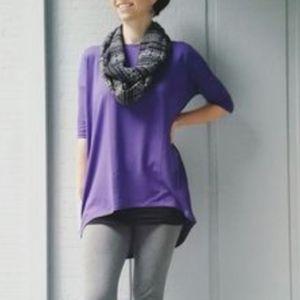 LuLaRoe solid Purple oversize top New L
